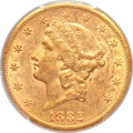 Liberty Double Eagles, 1882-CC $20 AU53 PCGS. Variety 1-A....