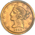 Liberty Half Eagles, 1842-C $5 Small Date VF25 PCGS. Variety 1....