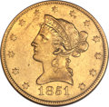 Liberty Eagles, 1851-O $10 AU58 NGC. Variety 1....