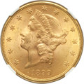 Liberty Double Eagles, 1899 $20 MS64+ NGC. CAC....