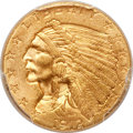 Indian Quarter Eagles, 1912 $2 1/2 MS64+ PCGS. CAC....