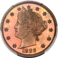 Patterns, 1882 5C Liberty Head Five Cents, Judd-1691, Pollock-1893, R.6, PR64 Red and Brown PCGS....