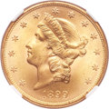 Liberty Double Eagles, 1899 $20 MS65 NGC....