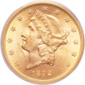 Liberty Double Eagles, 1892-S $20 MS64+ PCGS Secure....