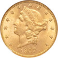 Liberty Double Eagles, 1907-S $20 MS64 NGC....