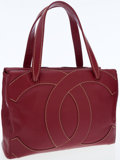 Luxury Accessories:Bags, Chanel Red Caviar Leather Everyday Tote Bag with ContrastStitching. ...