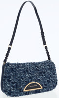 Luxury Accessories:Bags, Christian Dior Blue Denim Shoulder Bag with Gold Hardware. ...