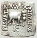 Ancients:Greek, Ancients: GRECO-BACTRIAN KINGDOM. Apollodotus I Soter (ca. 174-165BC). AR Indic square drachm (2.47 gm)....