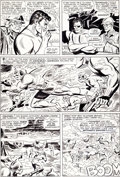 Original Comic Art:Panel Pages, Jack Kirby, Don Heck, and Mike Esposito Strange Tales #146Nick Fury Page 2 Original Art (Marvel, 1966)....