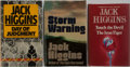 Books:Mystery & Detective Fiction, Jack Higgins. Group of Three British Edition Books, Two FirstEdition, First Printings. Various publishers, 1976-1983. Tou...(Total: 3 Items)