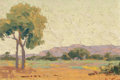 Paintings, FREMONT F. ELLIS (American, 1897-1985). El Paso. Oil on board. 7-1/2 x 11-1/2 inches (19.1 x 29.2 cm). Signed lower righ...