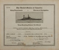 Autographs:Military Figures, Chester W. Nimitz Certificate Signed....