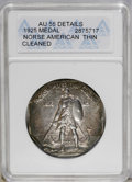 Commemorative Silver: , 1925 Medal Norse Thin Planchet--Cleaned--ANACS. AU 55 Details. PCGS Population (3/206). (#9451)...