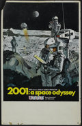 "Movie Posters:Science Fiction, 2001: A Space Odyssey (MGM, 1968). Midget Window Card (9"" X 14.5"").Science Fiction. Directed by Stanley Kubrick. Starring K..."