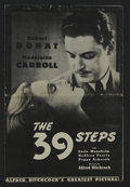 Movie Posters:Hitchcock, The 39 Steps (Gaumont, R-1938). Pressbook (Multiple Pages).Thriller. Directed by Alfred Hitchcock. Starring Robert Donat, M...