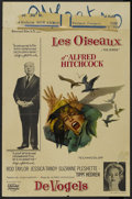 """Movie Posters:Hitchcock, The Birds (Universal, 1963). Belgian (14"""" X 21""""). Thriller. Directed by Alfred Hitchcock. Starring Tippi Hedren, Rod Taylor,..."""