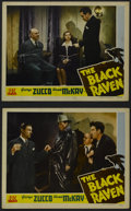 "Movie Posters:Mystery, The Black Raven (PRC, 1943). Lobby Cards (2) (11"" X 14""). Mystery.Starring George Zucco, Wanda McKay, Noel Madison, Robert ...(Total: 2 Items)"