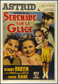 """Movie Posters:Drama, Breaking the Ice (RKO, 1938). Pre-War Belgian (22.5"""" X 33""""). Musical. Starring Bobby Breen, Charlie Ruggles, Dolores Costell..."""