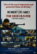"Movie Posters:War, The Deer Hunter (Universal, 1978). British One Sheet (27"" X 40"").Drama. Starring Robert De Niro, John Cazale, John Savage, ..."