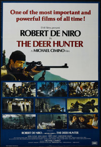"The Deer Hunter (Universal, 1978). British One Sheet (27"" X 40""). Drama. Starring Robert De Niro, John Cazale..."