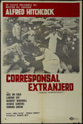 """Movie Posters:Hitchcock, Foreign Correspondent (United Artists, R-1960s). Argentinian One Sheet (29"""" X 43""""). Thriller. Directed by Alfred Hitchcock. ..."""