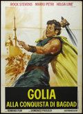 "Movie Posters:Action, Goliath at the Conquest of Damascus (Romana Film, 1964). Italian 2- Folio (39"" X 55""). Action Adventure. Starring Peter Lup..."