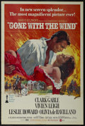 "Movie Posters:Academy Award Winner, Gone With the Wind (MGM, R-1974). One Sheet (27"" X 41""). RomanticEpic. Starring Clark Gable, Vivien Leigh, Leslie Howard, O..."