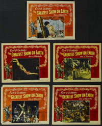 """The Greatest Show On Earth (Paramount, 1952). Lobby Cards (5) (11"""" X 14""""). Adventure Drama. Directed by Cecil..."""