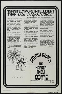 """The Harder They Come (New World Pictures, 1973). One Sheet (27"""" X 41"""") Style B. Crime. Directed by Roger Corma..."""
