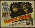 "Movie Posters:War, Immortal Sergeant (20th Century Fox, 1943). Title Lobby Card (11"" X14""). War. Directed by John M. Stahl. Starring Henry Fon..."