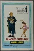 """Movie Posters:Drama, Limelight (United Artists, R-1972). One Sheet (27"""" X 41"""").Comedy/Drama. Directed by Charles Chaplin. Starring Chaplin,Clai..."""