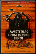 """Movie Posters:Documentary, Mysteries from Beyond Earth (R.C. Riddell and Associates, 1975). One Sheet (27"""" X 41""""). Documentary. Narrated by Lawrence Do..."""
