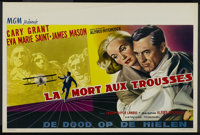 "North by Northwest (MGM, 1959). Belgian (14"" X 21.5""). Thriller. Directed by Alfred Hitchcock. Starring Cary G..."