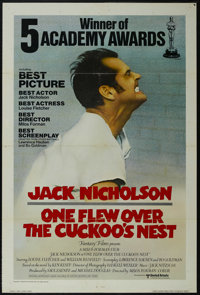 "One Flew Over the Cuckoo's Nest (United Artists, 1975). One Sheet (27"" X 41"") International Academy Awards Sty..."
