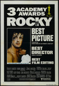 "Movie Posters:Sports, Rocky (United Artists, 1977). One Sheet (27"" X 41"") Foreign Academy Awards Style. Drama. Starring Sylvester Stallone, Talia ..."