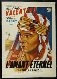 "The Son of the Sheik (Astra Paris Films, R-1930s). French Poster (28"" X 39.5""). Romantic Drama. Starring Rudol..."