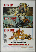 "Movie Posters:Action, Thunderball (United Artists, R-1980). One Sheet (27"" X 41"").Action. Starring Sean Connery, Claudine Auger, Adolfo Celi and ..."