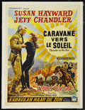 """Movie Posters:Western, Thunder in the Sun (Paramount, 1959). Belgian (13.75"""" X 19""""). Western. Starring Susan Hayward, Jeff Chandler, Jacques Berger..."""