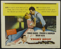 "Tight Spot (Columbia, 1955). Half Sheet (22"" X 28"") Style B. Crime. Starring Ginger Rogers, Edward G. Robinson..."