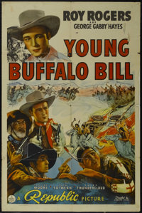 "Young Buffalo Bill (Republic, 1940). One Sheet (27"" X 41""). Western. Starring Roy Rogers, George 'Gabby' Hayes..."