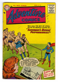 Adventure Comics #222 (DC, 1956) Condition: VG+. Curt Swan, Henry Boltinoff, and Win Mortimer art. Overstreet 2006 VG 4...