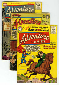 Adventure Comics Group (DC, 1952-56). Includes #180 (FR), #225 (GD), #226 (GD+), and #230 (VG). Curt Swan, Win Mortimer...