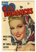 Golden Age (1938-1955):Romance, All Romances #6 (Ace, 1950) Condition: VF. Painted cover. Based onthis copy's provenance, we think it is probably the Mile ...
