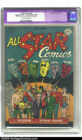Golden Age (1938-1955):Superhero, All Star Comics #32 (DC, 1947) CGC Apparent VF+ 8.5 Moderate (P) Cream to off-white pages. The first super team battles it o...