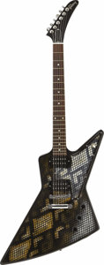 Musical Instruments:Electric Guitars, Gibson 2006 USA Explorer with Custom Gold Metallic Snake SkinFinish. After one look at this guitar, one might wonder if Gib...(Total: 1 Pieces Item)