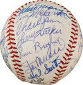 Baseball Collectibles:Balls, 1960 St. Louis Cardinals Team Signed Baseball. ...