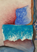 Texas:Early Texas Art - Drawings & Prints, BILL BOMAR (American, 1919-1991). Blue Rocks. Pastel andwatercolor on paper. 8-3/4 x 6-1/4 inches (22.2 x 15.9 cm) (pap...