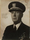 Autographs:Military Figures, Admiral Ernest J. King Inscribed Photo Signed....