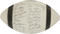 Football Collectibles:Balls, 1963 Cleveland Browns Team Signed Football. ...