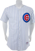 Baseball Collectibles:Uniforms, 2010 Carlos Marmol Game Worn Chicago Cubs Jersey With MLB Hologram....
